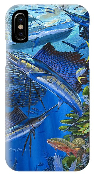 Reel iPhone Case - Reef Frenzy Off00141 by Carey Chen