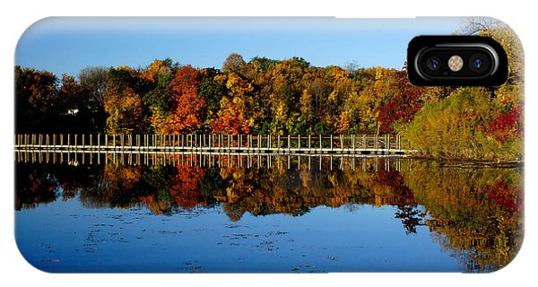 Refection Fall In Prior Lake Mn IPhone Case
