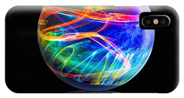 Reflected Flame Globe IPhone Case