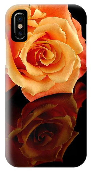 Reflected Rose IPhone Case