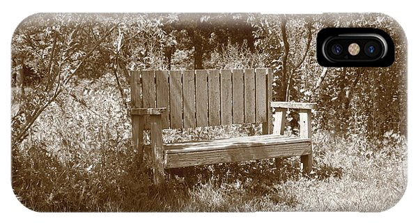 Reflecting Bench IPhone Case