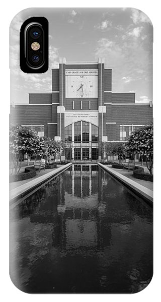 Reflecting Pond Outside Of Oklahoma Memorial Stadium IPhone Case