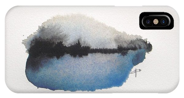 Abstract Modern iPhone Case - Reflection In The Lake by Vesna Antic