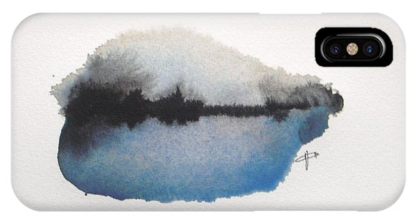 Blue Abstracts iPhone Case - Reflection In The Lake by Vesna Antic