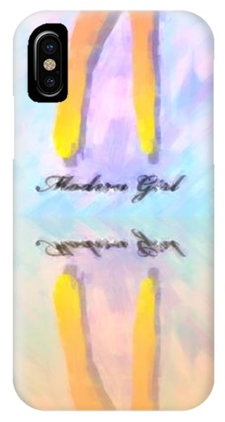 Reflection Of A Modern Girl In Abstract Oil IPhone Case