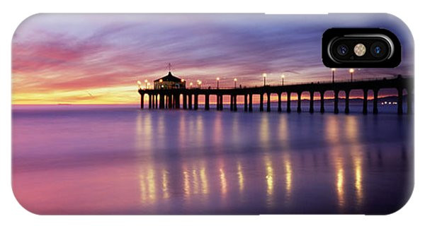 Reflection Of A Pier In Water IPhone Case