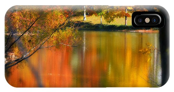 Reflection  Of My Thoughts  Autumn  Reflections IPhone Case