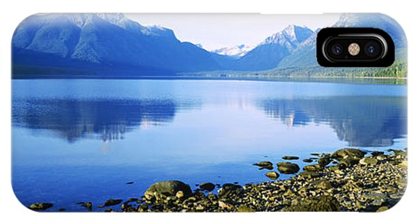 Reflection Of Rocks In A Lake, Mcdonald IPhone Case