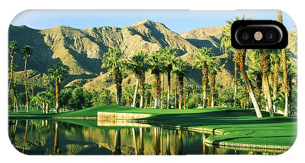 California iPhone Case - Reflection Of Trees On Water In A Golf by Panoramic Images