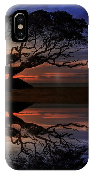 IPhone Case featuring the photograph Reflection Of Troubled Times by Greg and Chrystal Mimbs