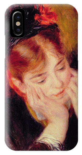 Deep Thought iPhone Case - Reflection by Pierre Auguste Renoir