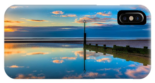 Sea iPhone X Case - Reflections by Adrian Evans