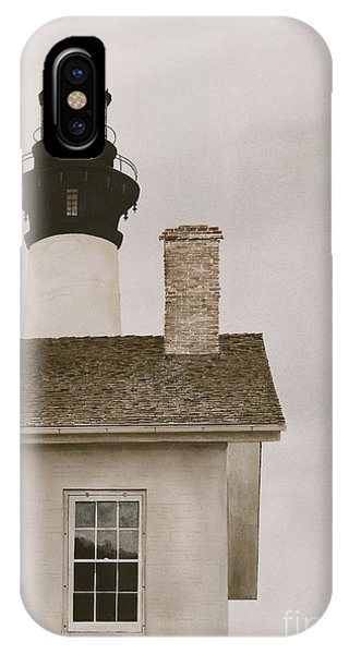 Reflections At Bodie Light IPhone Case