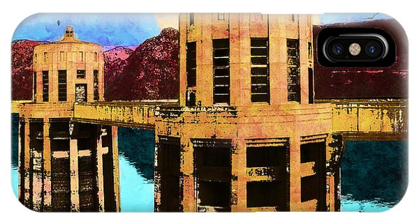 Reflections At Hoover Dam IPhone Case