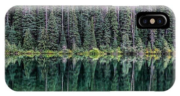 Reflections At Lightning Lake Phone Case by Marie  Cardona