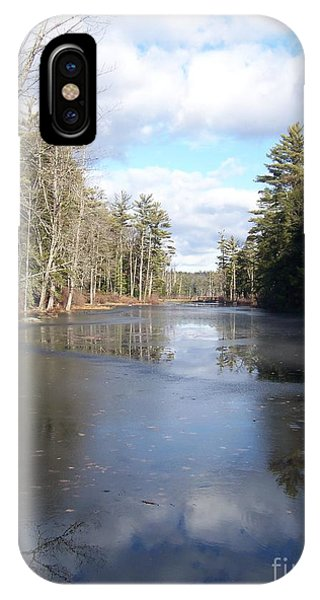 Reflections Caught On Ice At A Pretty Lake In New Hampshire IPhone Case