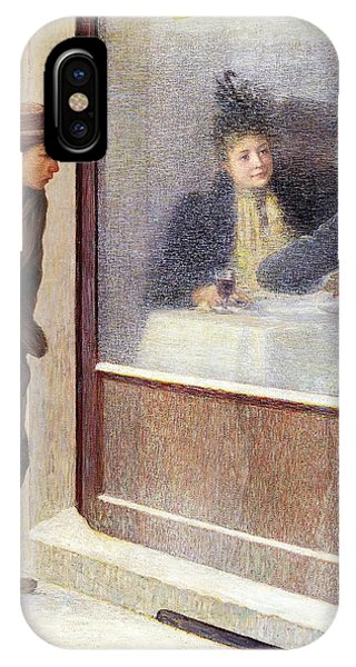 Reflections Of A Hungry Man Or Social Contrasts IPhone Case