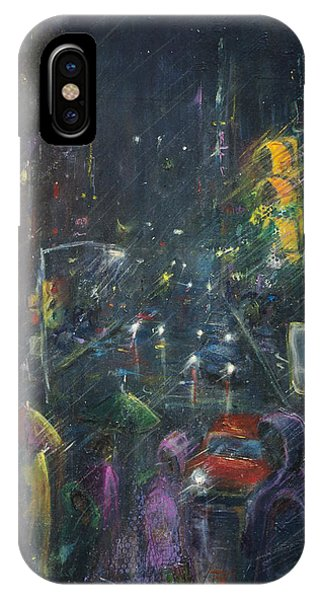 Reflections Of A Rainy Night IPhone Case