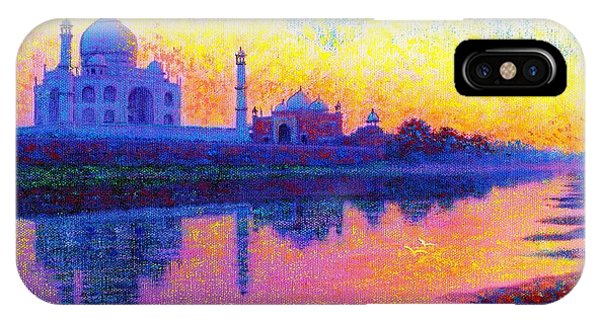 Palace iPhone Case - Taj Mahal, Reflections Of India by Jane Small