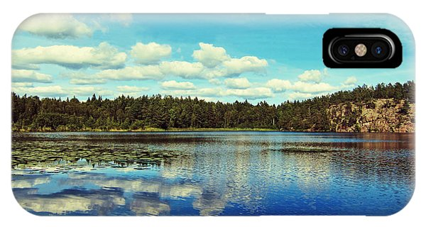 Skyscape iPhone Case - Reflections Of Nature by Nicklas Gustafsson