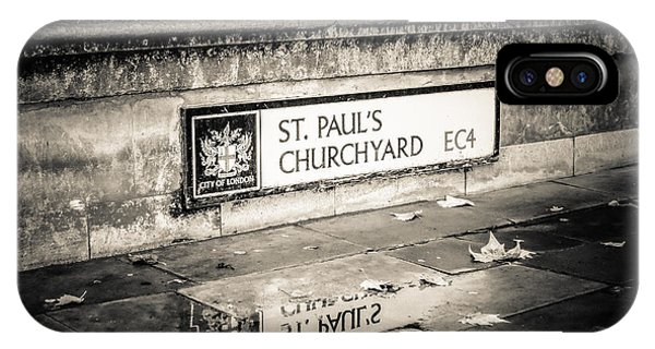 Reflections On St. Paul's Churchyard IPhone Case