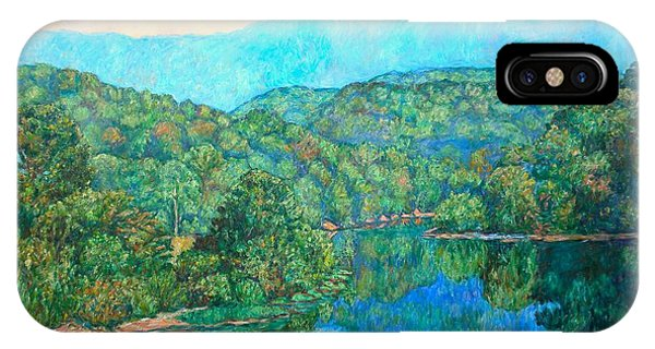 IPhone Case featuring the painting Reflections On The James River by Kendall Kessler