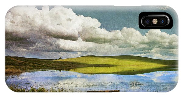 Flooded iPhone Case - Reflections On Watership Down by Theresa Tahara