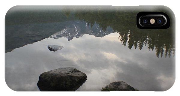 Reflections Two Jacks Lake IPhone Case