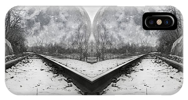 Super Moon iPhone Case - Reflective Journey by Betsy Knapp