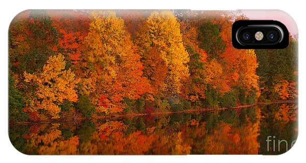 Reflective Lake Nockamixon Pano - Twilight IPhone Case