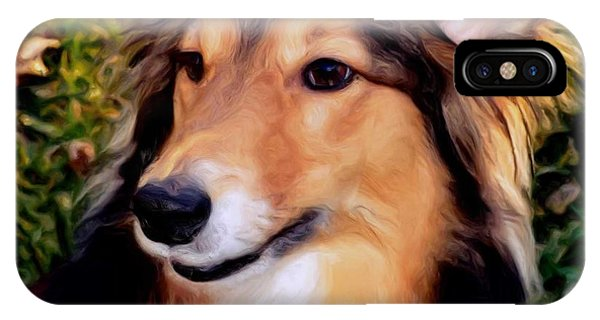 Dog - Collie - Regal Shelter Dog IPhone Case