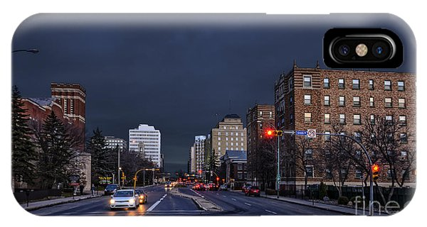 iPhone Case - Regina Street At Night by Viktor Birkus