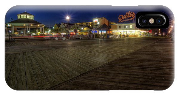 Rehoboth Beach Boardwalk At Night IPhone Case