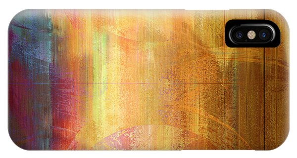 IPhone Case featuring the mixed media Reigning Light - Abstract Art by Jaison Cianelli