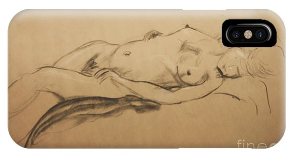 Relaxing Nude IPhone Case