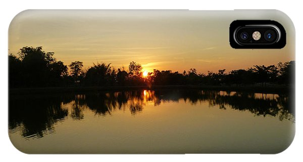 Reflections At Dusk IPhone Case