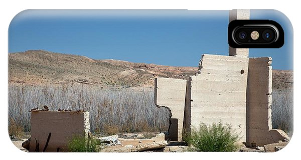 Remains Of House Flooded By Hoover Dam Phone Case by Jim West