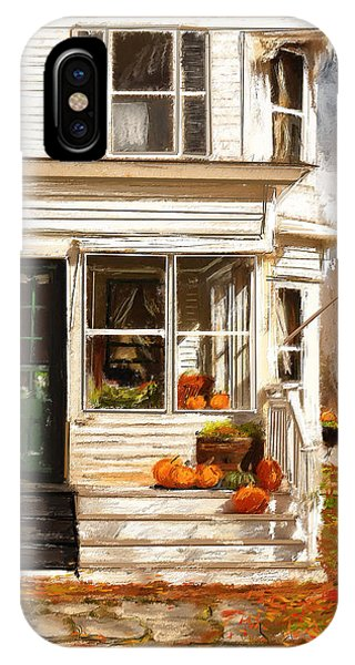 Porch iPhone Case - Remembering When- Porches Art by Lourry Legarde
