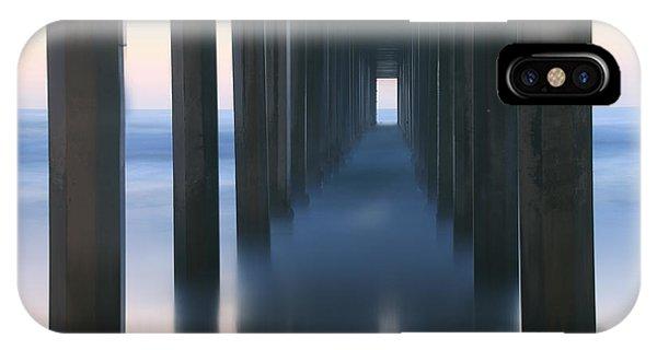 Scripps Pier iPhone Case - Reminisce by Marco Crupi