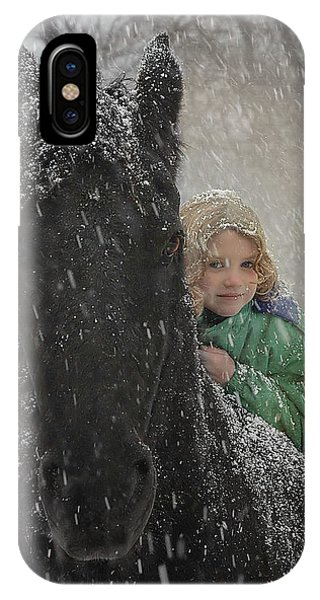 Equine iPhone Case - Remme And Rory by Fran J Scott