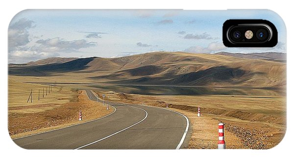 Remote Highway Mongolia IPhone Case