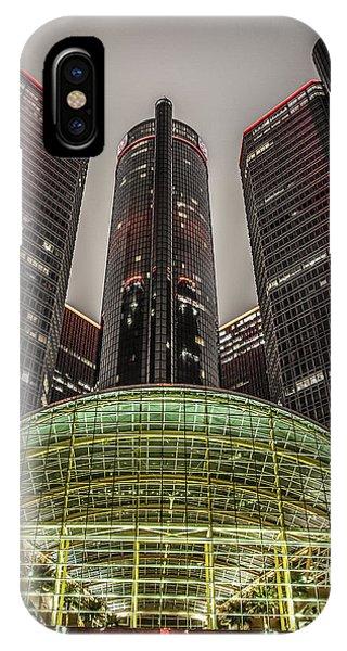 Renaissance Center Detroit Michigan IPhone Case