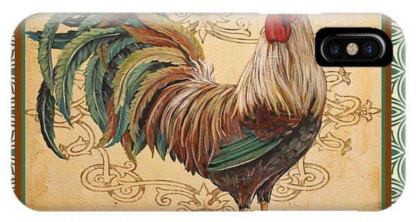 Renaissance Rooster-d-green IPhone Case