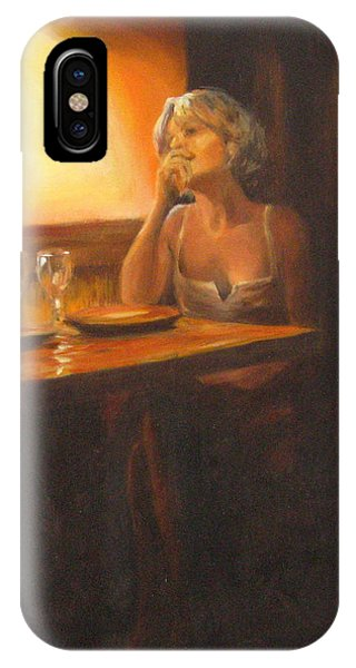 Rendevous At The Indian Restaurant IPhone Case