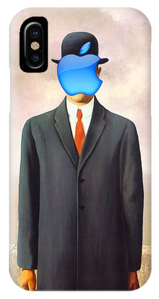 Rene Magritte Son Of Man Apple Computer Logo IPhone Case