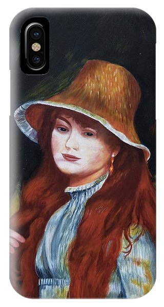 Renoir-young Girl In A Straw Hat IPhone Case