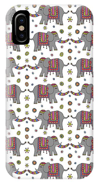 Repeat Print - Indian Elephant IPhone Case