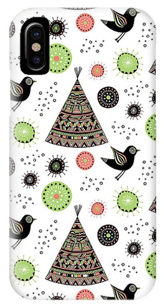 Cute iPhone Case - Repeat Print - Wild Night by MGL Meiklejohn Graphics Licensing