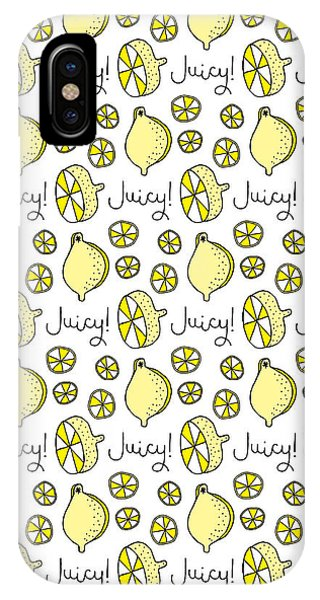 Repeat iPhone Case - Repeat Prtin - Juicy Lemon by Susan Claire