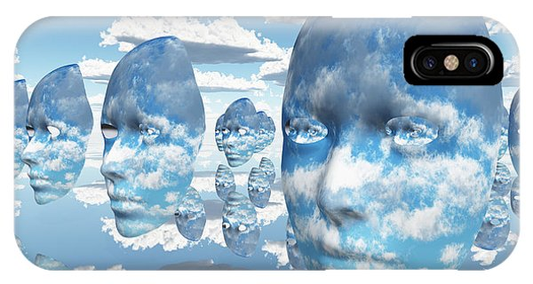 Repeating Faces Of Clouds IPhone Case